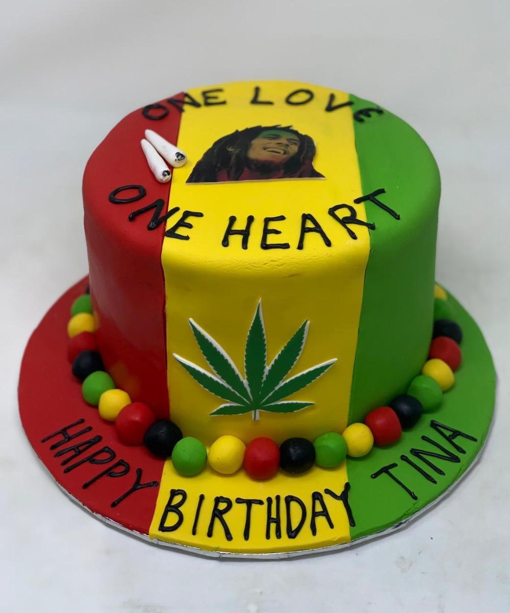 Magnificent Bob Marley Cake Farhat Sweets Funny Birthday Cards Online Elaedamsfinfo